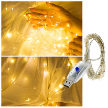 USB LED String Light Colorful Waterproof LED Copper Wire Strings Holiday Lighting Fairy For Christmas Party Wedding Decoration