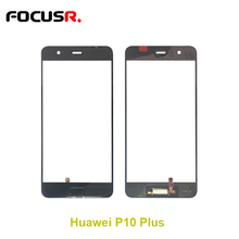 FOCUSR. Front Outer Glass Lens Cover For  huawei P10 plus LCD outer front glass lens with home button replacement repair parts