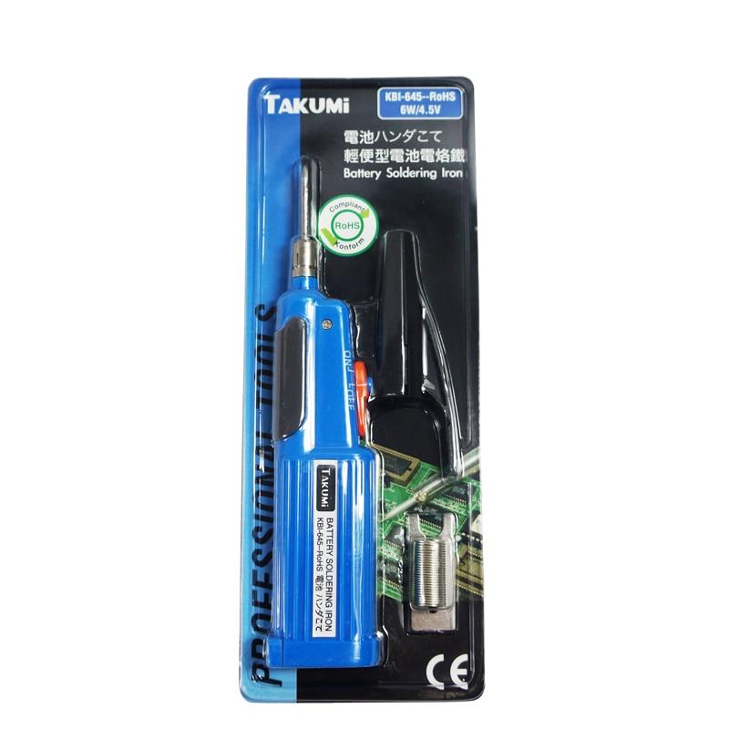 Battery soldering iron KBI-645 6w 4.5v for bga reballing tools электрический паяльник takumi 645 6w 4 5v takumi kbi 645
