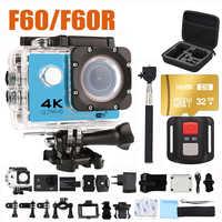 Kamera akcji ultra hd 4 K kamery wifi 16MP 170 go cam 4 K deportiva 2 cale f60 wodoodporna kamera sportowa pro 1080P 60fps cam