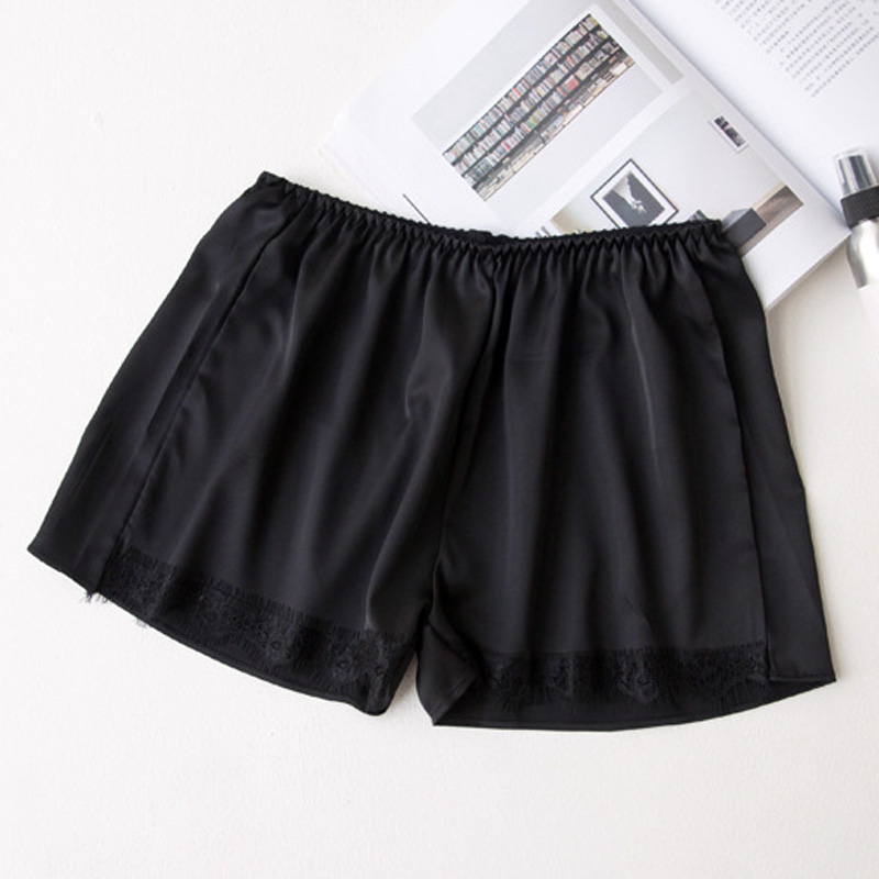 2018 Plus Size Satin Kitten Silky Elastic Waist Women Men Home Sleep Tracksuit Bottom Short Pants Pajama Nightwear Shorts 2