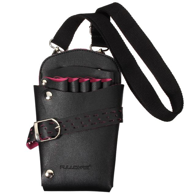 Hot Pro Salon Leather Hairdressing Scissors Kit Bag Pockets Multifunction Hairstylist Holster Pouch Holder Tool