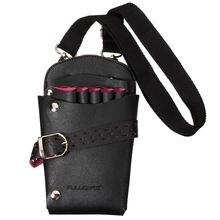 Sıcak Pro Salon deri kuaförlük makas seti çantası makas cepler çok fonksiyonlu kuaför kılıfı kılıf tutucu aracı