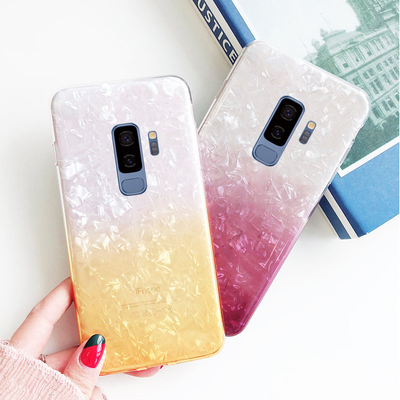Gradient Color Phone Case For Samsung Galaxy J4 J6 2018 EU Version Soft Silicone TPU Cover For Samsung Galaxy A6 Plus 2018 Case