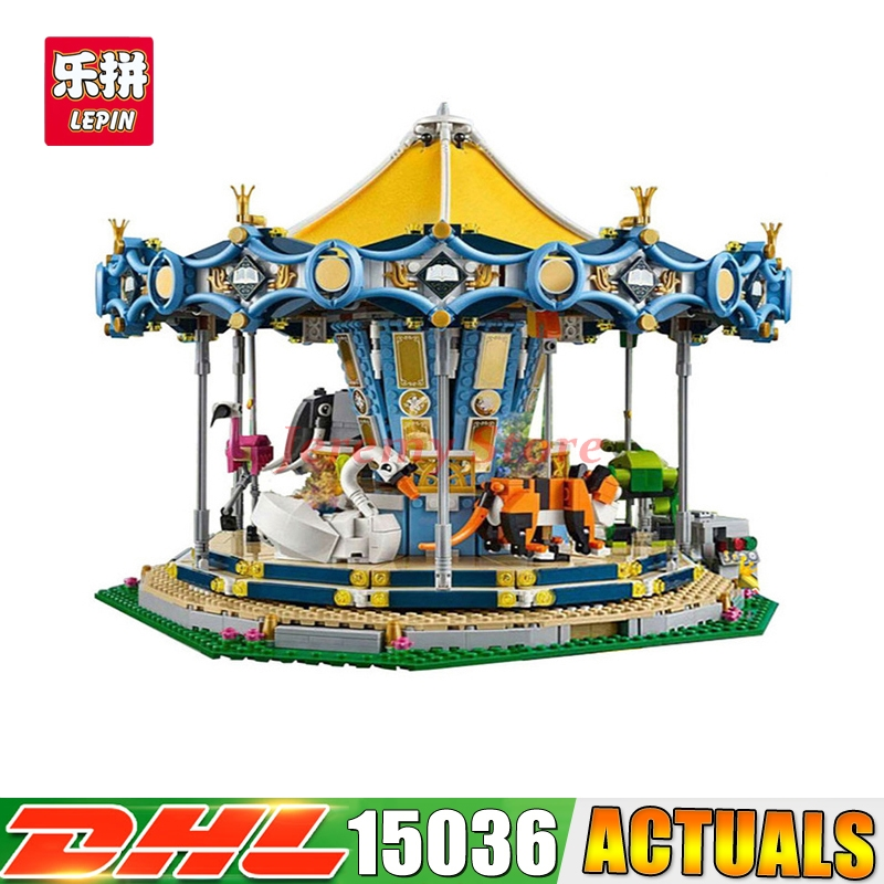 Clone 10257 DHL 15036 2705Pcs Genuine Street Series The New Carousel Set Model Building Kit Set Blocks Bricks Children Toy Gift марки с бабочками продать