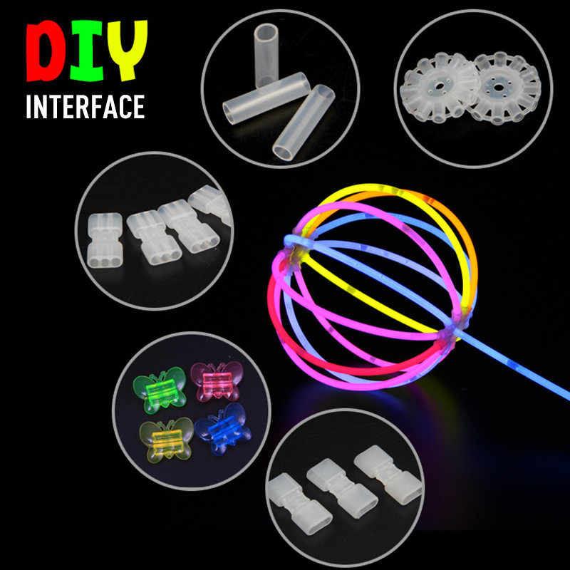 Light stick Luminous Stick connector DIY Toy fitting connector Fluorescent plastic accessories3/12 Hole Disk Connector