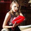 GUDANSEN Portátil Red Sexy Lips Padrão da Cadeia Feminina de Embreagem Bolsa Noite Saco de Ombro Das Mulheres Bolsas Beijo Cross-corpo Carteira