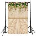 3x5FT flower wood wall Floor vinyl Photography Background Studio Photo Prop photographic Backdrop cloth waterproof 90cm x 150cm