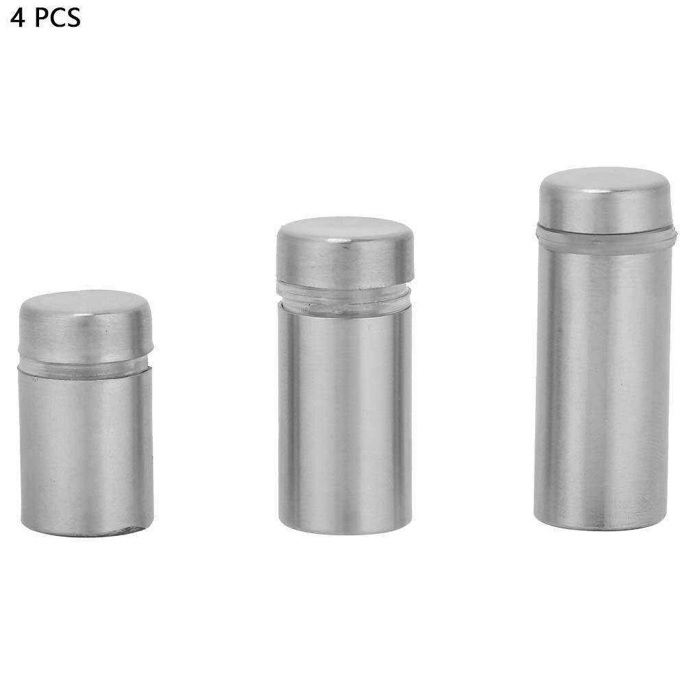 0.5 * 1in 4 unids de acero inoxidable publicidad clavo de fijaci/ón Pin monta pernos de soporte de vidrio Standoff