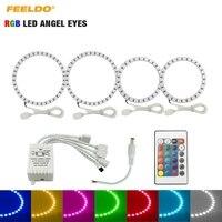 FEELDO 2X110mm 2X80mmCar RGB Multi Color LED Angel Eyes Halo Ring Lighting Kit For Hyundai Tiburon(00 01) Headlight #HQ3248