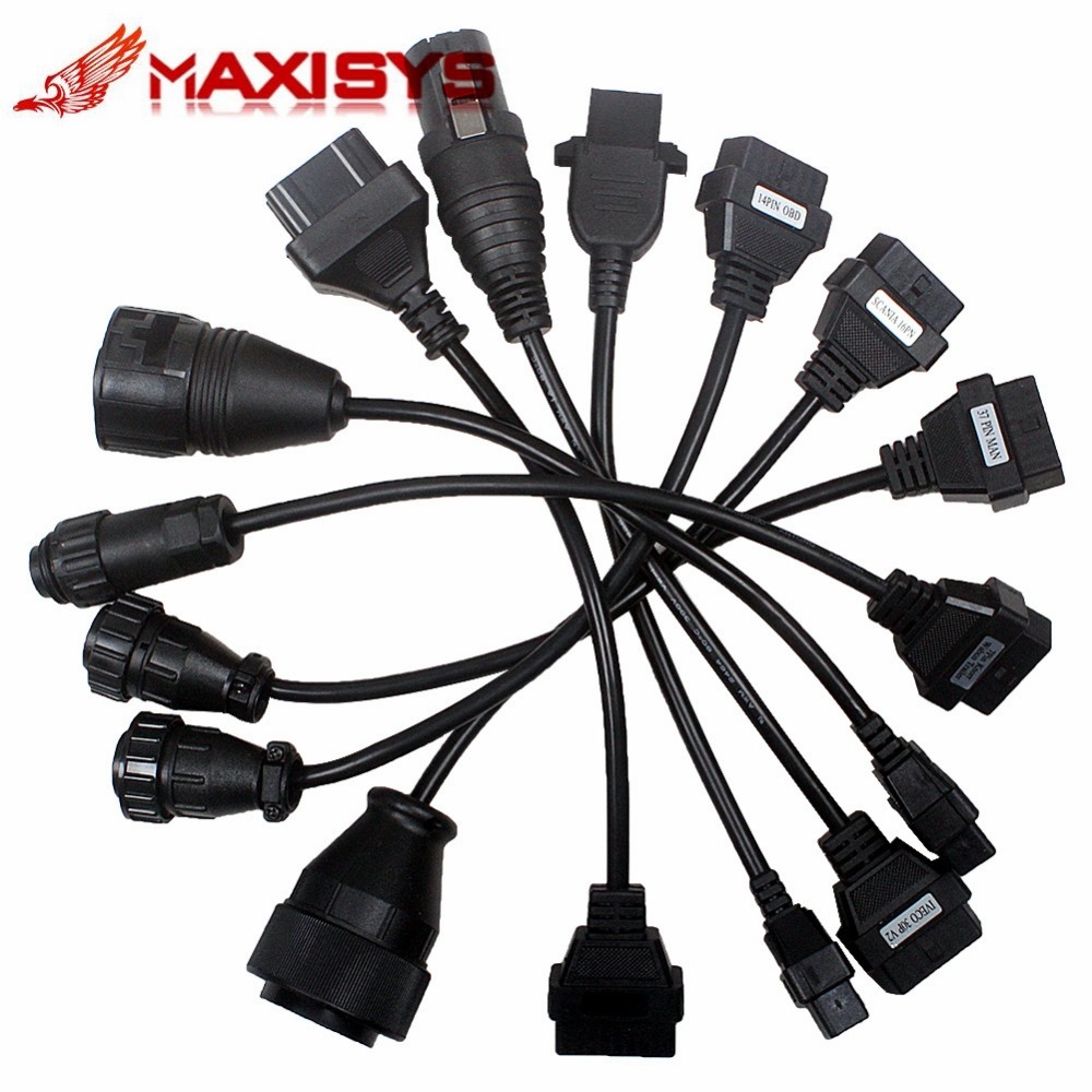2015 Truck Cables CDP Pro OBD2 OBDII Trucks Diagnostic tool connect cable 8 PCS Trucks Cable