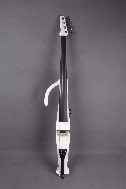 4/4 Electric Cello Silent PU Powerful Sound Ebony Part  White color#EC15 new 4 4 electric cello powerful sound ebony parts end pin tailpiece peg 1468