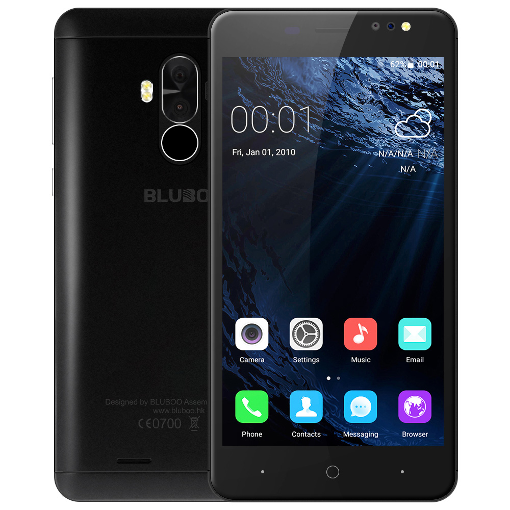 Bluboo D1 3G Smartphone 5 0 Inch Android Quad Core 2GB 16GB Fingerprint Scanner Dual Rear