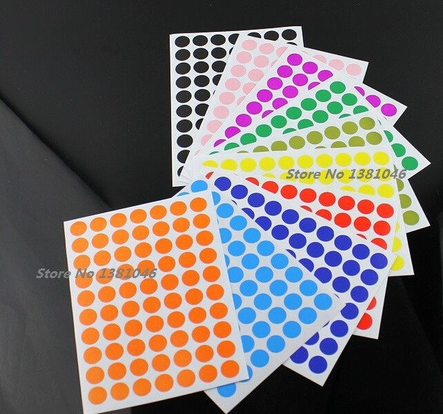 700 pieces 10mm circle round stickers color coded label dot sticker inventory code tags