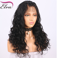 Elva Hair Glueless Lace Front Human Hair Wigs Pre Plucked Hairline Brazilian Curly Remy Hair Wigs Bleacked Knots Natural Color