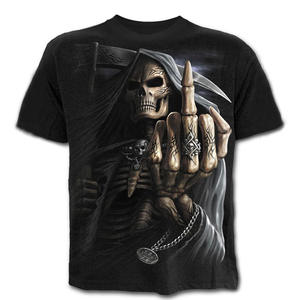 Summer Short Sleeve 3d Horror Skull T-shirt Men's Tops