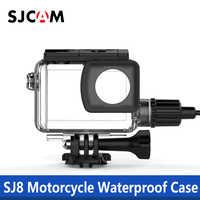 100% Original SJCAM SJ8 Series Motorcycle Waterproof Case with Type C Cable For SJ8 Pro / SJ8 Plus / SJ8 Air 4K Action Camera