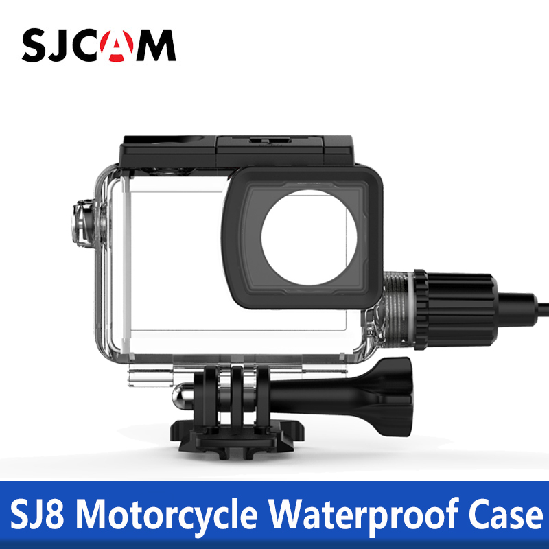 100% Originele Sjcam Sj8 Serie Motorfiets Waterdichte Case Met Type C Kabel Voor Sj8 Pro/sj8 Plus/sj8 Air 4 K Action Camera