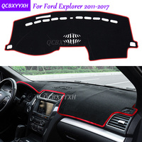 For Ford Explorer 2011 2017 Dashboard Mat Protective Interior Photophobism Pad Shade Cushion Car Styling Auto