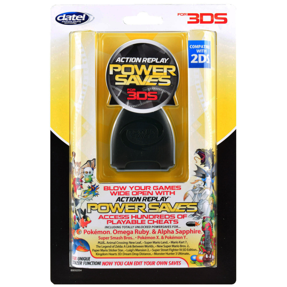 ФОТО Original guarantee European edition Datel PowerSaves Pro for 3DS blow games wide open with action replay powersaves