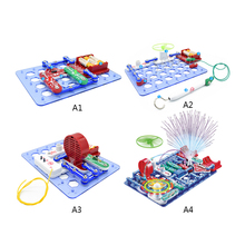 Electronic Circuits Electronics Discovery Kit Building Blocks Assembling Toys for Kids Educational Science Experiment Toys cheap blocks electronic constructor building block designer kits for kids discover electronic science project circuit educatio