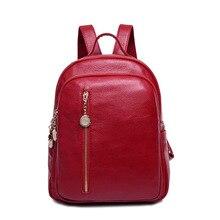 Mochilas de Cuero Genuino de las mujeres bolsos de escuela estudiantes adolescentes niñas pequeñas mochilas mujeres bolsas de viaje mochila bolsas femininas