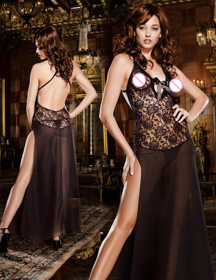 Shipping Within One Day Sexy Lingerie 130cm Long Black Plus Size S