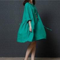 Ilstile 2017 New Women Half Sleeve Casual Loose Short Mini Dress Mori Girls Plus Size Dress