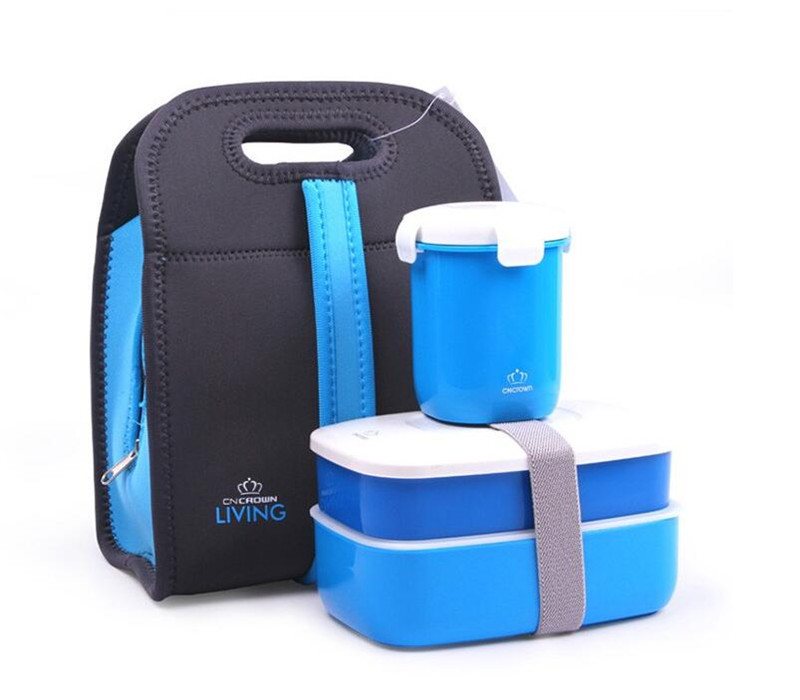 Japanese Lunch Box Kids School Camping Dinnerware Set With Bag Plastic Food Containers Sushi Food Plate Food Storage With Cup.