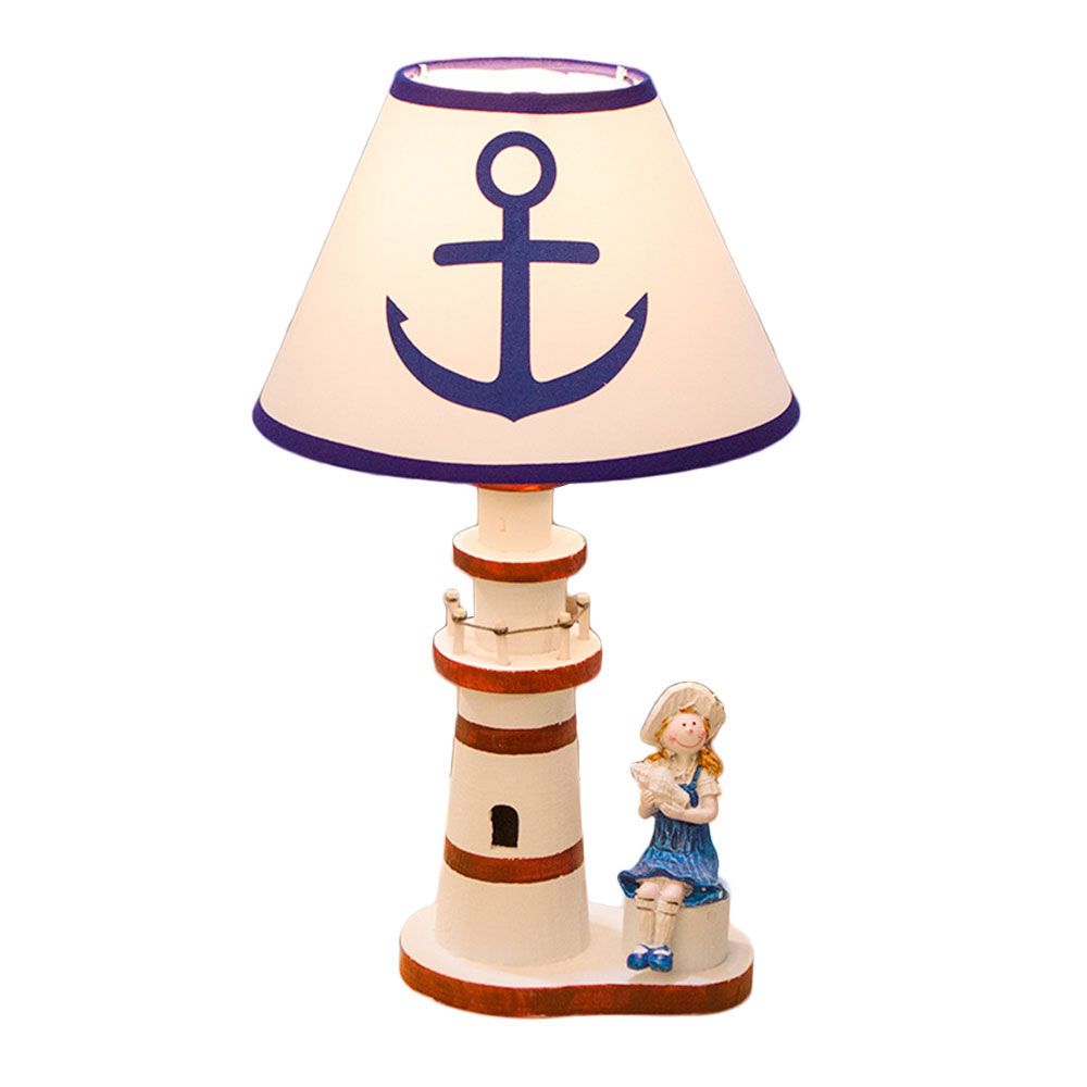 Desk Light Table Lamp Creative Night Light Lighthouse Shape Room Lighting Home Decoration Christmas Xmas novelty magnetic floating lighting bulb night light wood color base led lamp home decoration for living room bedroom desk lamp