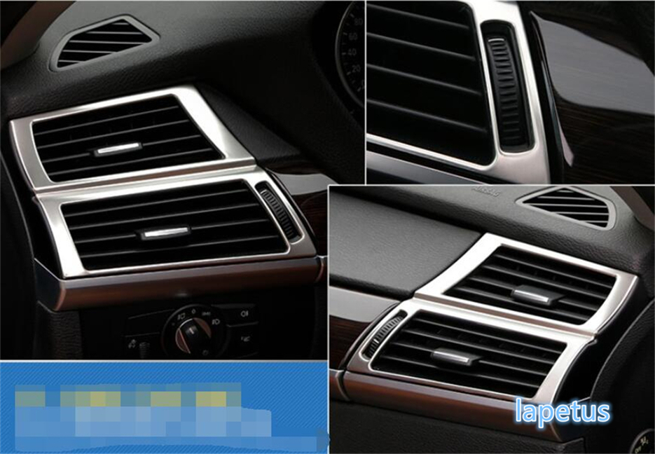 Garniture latérale de couverture de décoration d'évent de sortie d'air de climatisation de Lapetus pour l'acier inoxydable de BMW X5 E70 2009-2013X6 E71 2010-2014