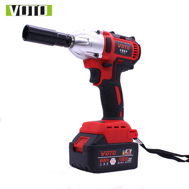 Voto 68v Brushless Electric Impact Wrench Cordless Rechargeable 7800ah Lithium Battery Car Socket Drill