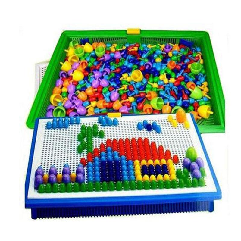Nuevos juguetes educativos para niños con aleta de hongo de uñas - Juguetes de construcción