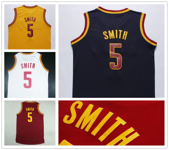 Men s Basketball Jersey  5 JR Smith Jerseys blue yellow red white  Embroidery logo REV 30 Stitched sport shirt Accept custom 0bbb29240