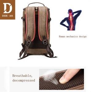 Image 3 - DIDE hommes sac à dos en cuir imperméable sacs à dos dordinateur portable pour homme Mochila Vintage décontracté voyage sac à dos sac Preppy sac décole