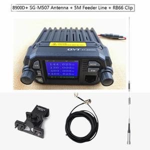 Image 1 - QYT KT 8900D Radio transceiver 136~174/400~480MHz car mobile transceiver quad band display transceiver 25W + antenna