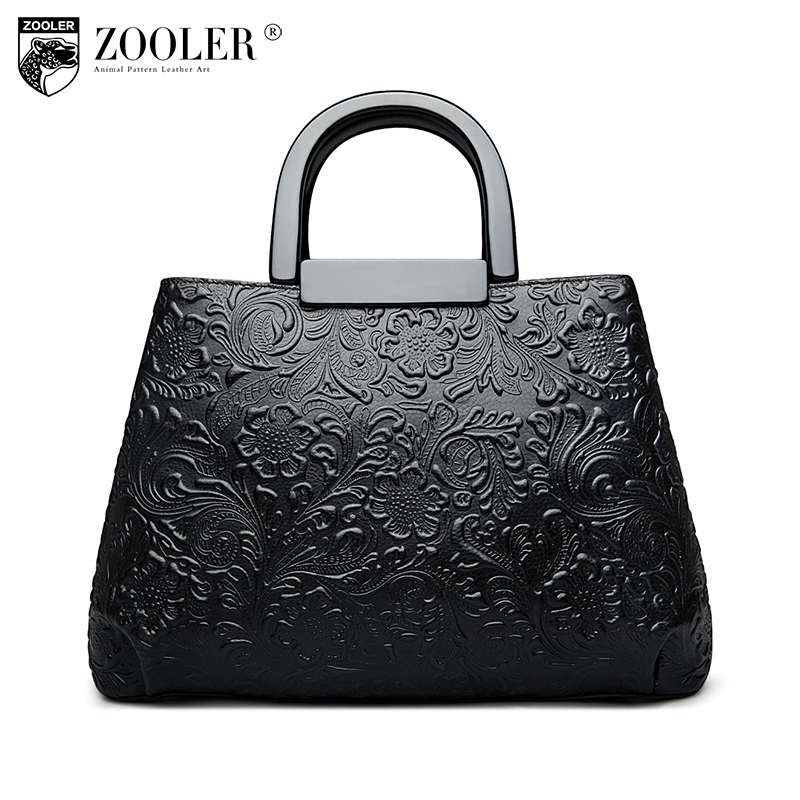 ZOOLER women bag cowhide top handle leather bags 2018 new middle aged elegant handbags Shoulder Bag OL Classic #2659 new product sales zooler brand zipper cowhide bag top handle shoulder bag simply solid genuine leather bag women bag bolsas c108