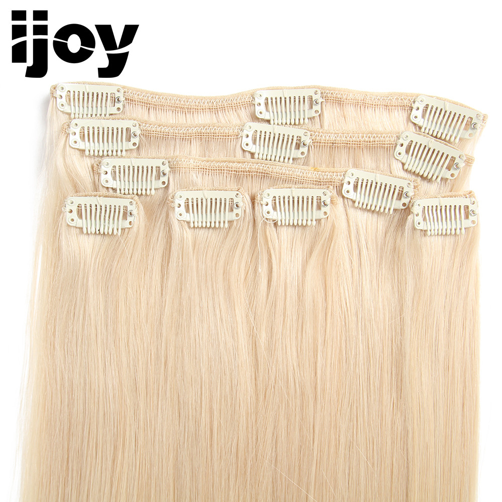 BUEN CABELLO Brasileño recto 100% Pinza de pelo virgen en - Cabello humano (blanco) - foto 4