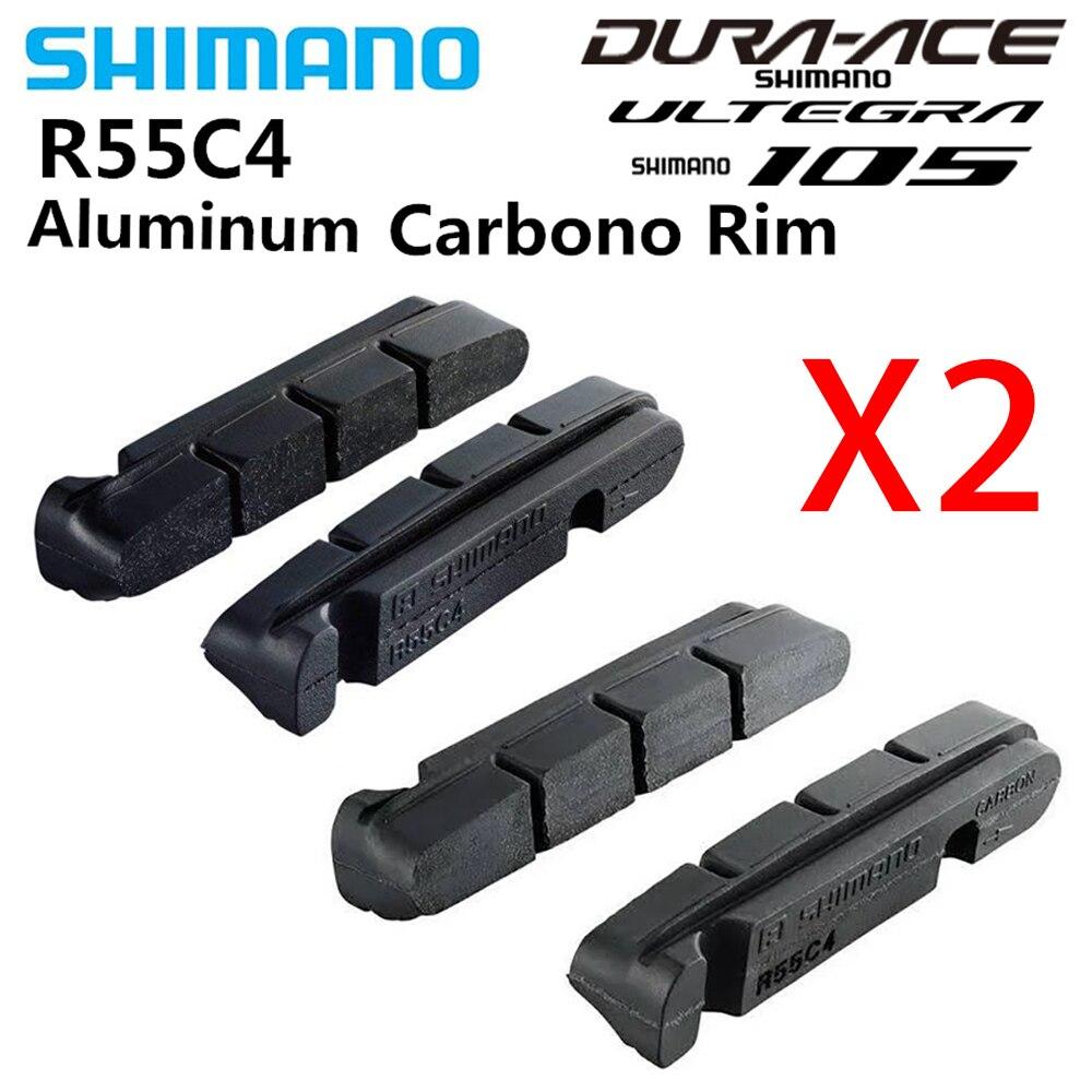 2 pièces SHIMANO R55C4 v frein Vélo De Route Chaussures Plaquettes Carbone/Alliage D'aluminium Jantes Dura-ace/Ultegra/105 R8000 6800