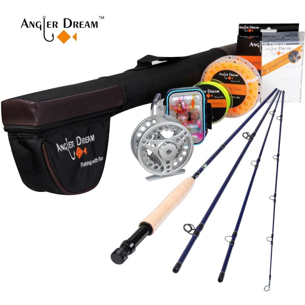Pescador sonho voar vara de pesca e