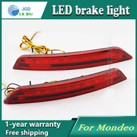 Car Styling Rear Bumper LED Brake Lights Warning Lights Case For Ford Mondeo 2007 2010 Accessories
