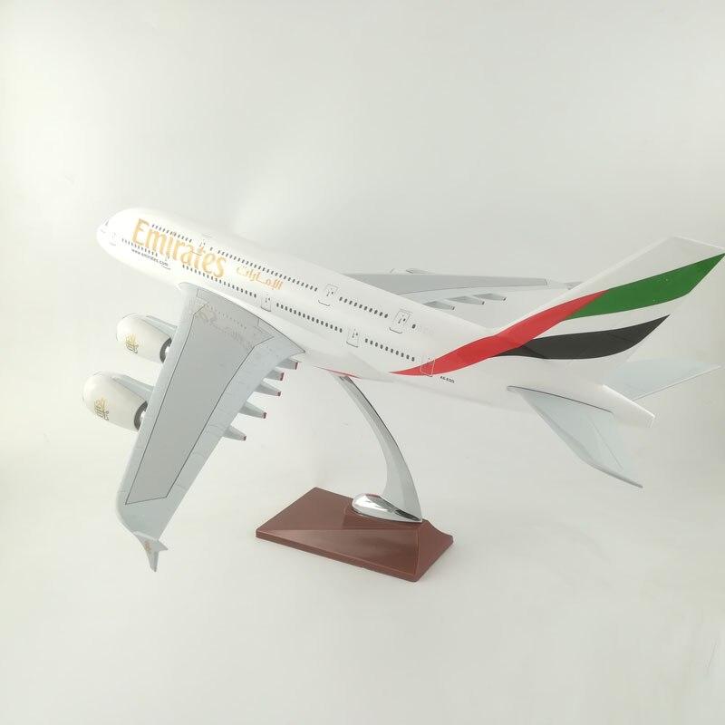 ÉMIRATS AVIONS de LIGNE 45-47 CM A380 EMIRATES AIRLINES MODÈLE AVION AVIONS JOUETS POUR ENFANTS CADEAUX D'ANNIVERSAIRE ORNEMENT