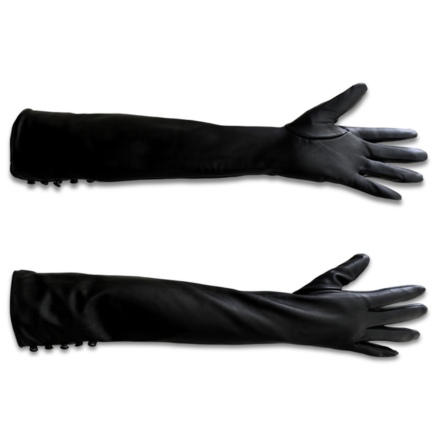 Women Gloves Women Leather Gloves Long Leather Gloves Ladies Mittens Long Gloves