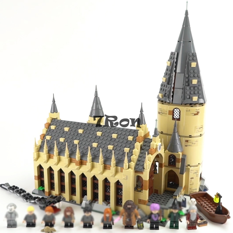 16052 983pcs Compatible with Lego 75954 Hogwarts Great Hall Model Buidling Blocks Bricks Kids Funny DIY Toys hobbies Gifts