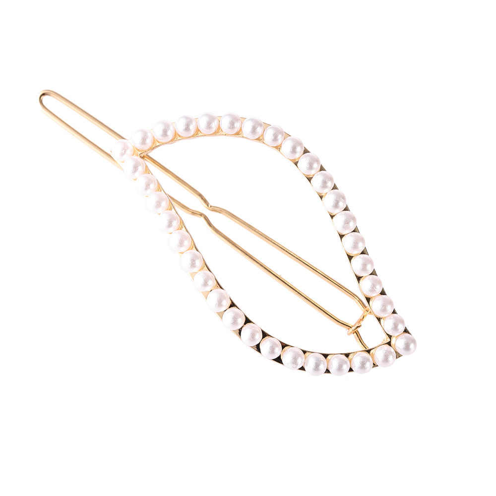 1pc spinki do włosów dla kobiet Hollow geometryczne perła diamentowa Rhinestone spinka do włosów proste akcesoria do włosów damskie żaba klip G0730