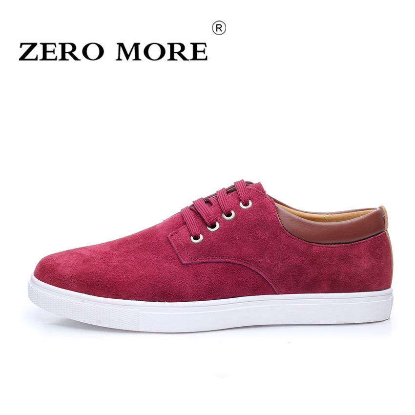 ZERO MORE Fashion Men Shoes High Quality Cow Suede Leather Men Casual Shoes Lace up Breathable Shoes For Men Plus Size 38-49