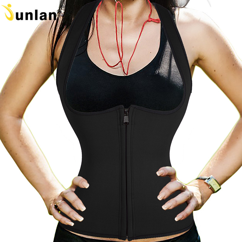 Neoprene Slimming Corset Women Vest Waist Trainer Cincher Workout Bodysuit Training Waist Body Shaper Sweat Tops for Weight Loss