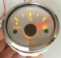 Pack of 1 52mm Marine Pointer Fuel Level Meters 0 190ohm / 240 33ohm Input Signal Fuel Level Gauges with Red or Yellow Backlight