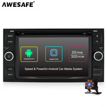 AWESAFE 2 DIN Android Car DVD Multimedia Player for Ford Focus 2005 2006  2007 with GPS Navigation Mondeo Kuga S-MAX Autoradio 3b3b5345ec24