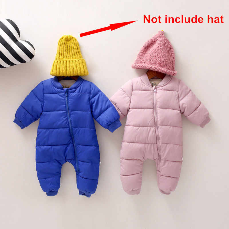 ecd1ea3d93c9 ... Winter Baby Rompers Jap-korean Style Girls Snowsuit Clothing Autumn Cotton  Padded Infant Warm Overalls ...